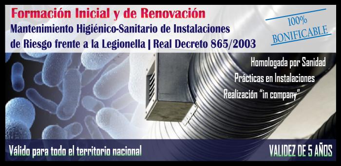 Cursos Inicial y Renovación 'Legionella' | Listado Cursos Abiertos 2016 | Solicite su matrícula ya...